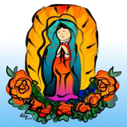 ... en todo el mundo como el dia de la virgen de guadalupe reina de